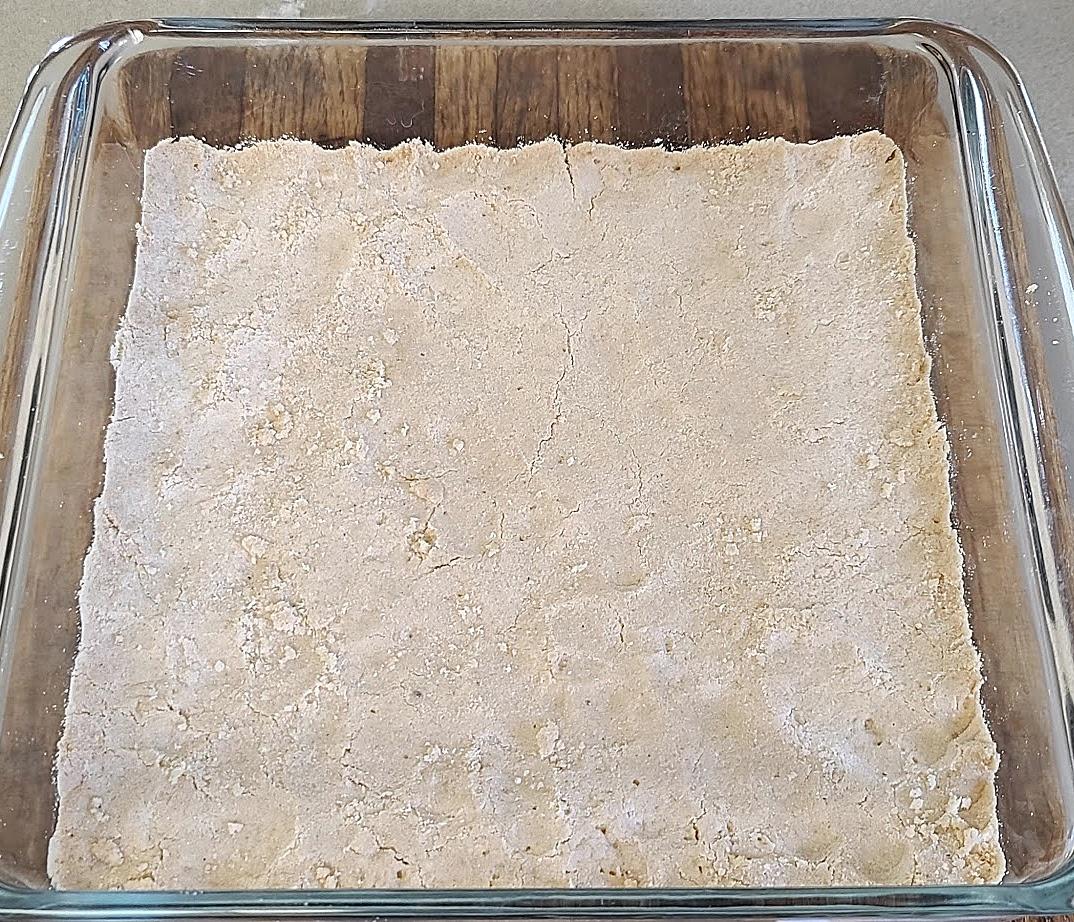 Gluten-Free Tart Lemon Bars ready to be baked