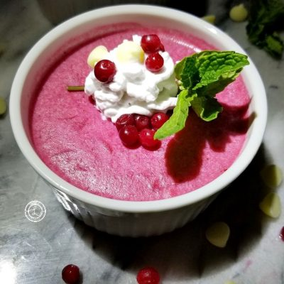 Lingonberry Panna Cotta