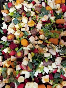 Beets, Celery Root, Radishes, potatoes, carrots, parsnips, rutabagas, turnips etc.