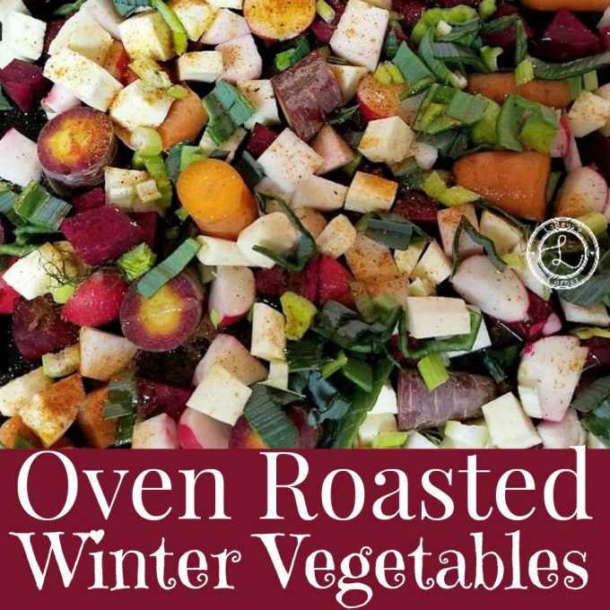 Roasted Parsnips, rutabagas, turnips, beets, radishes, leeks, potatoes, parsley, celery root, carrots etc.