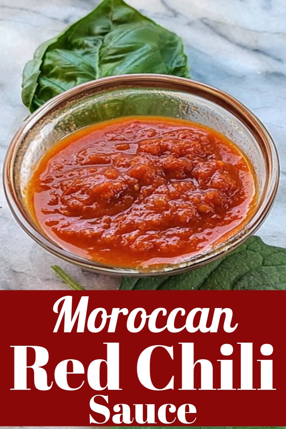 Moroccan Red Chili Sauce in a bowl.
