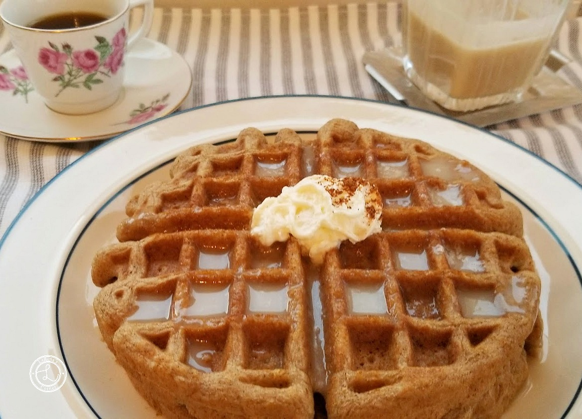 Buttermilk Syrup on Gingerbread Waffles