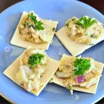 Garlic Crackers on a plate