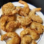Plate of cooling coconut shrimp