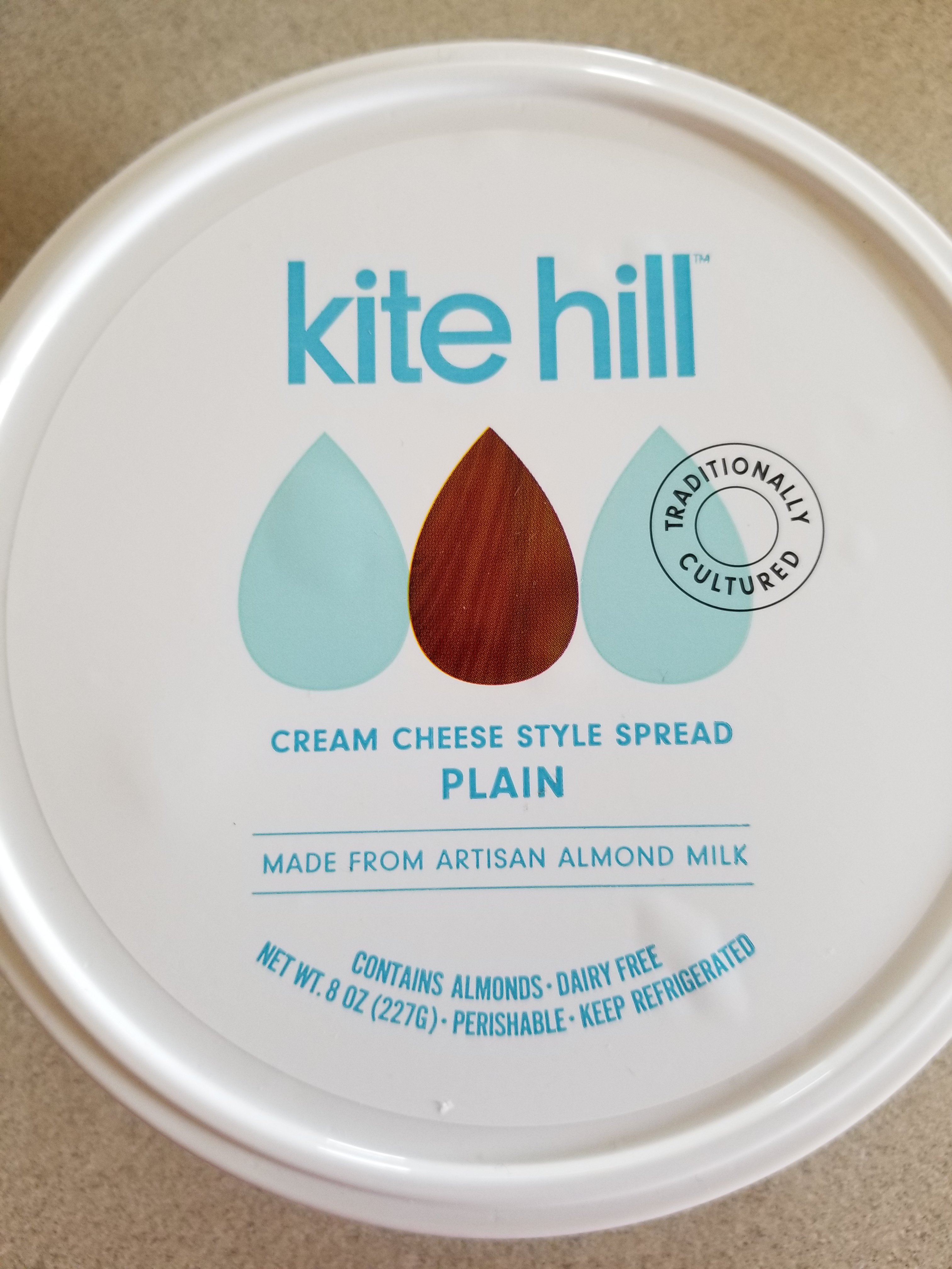 A picture of the lid. Kite Hill Cream-Cheese Review