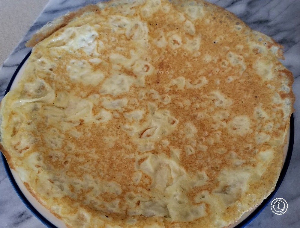 Crepes on a plate