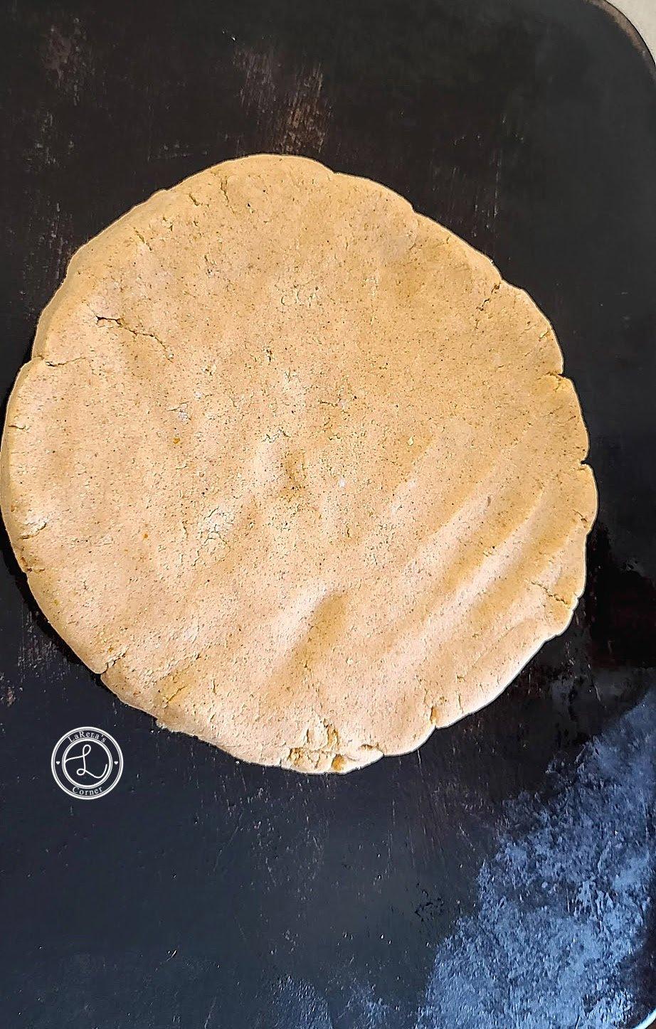 Flattened Disc on baking stone