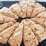 Baked Scones on a baking stone