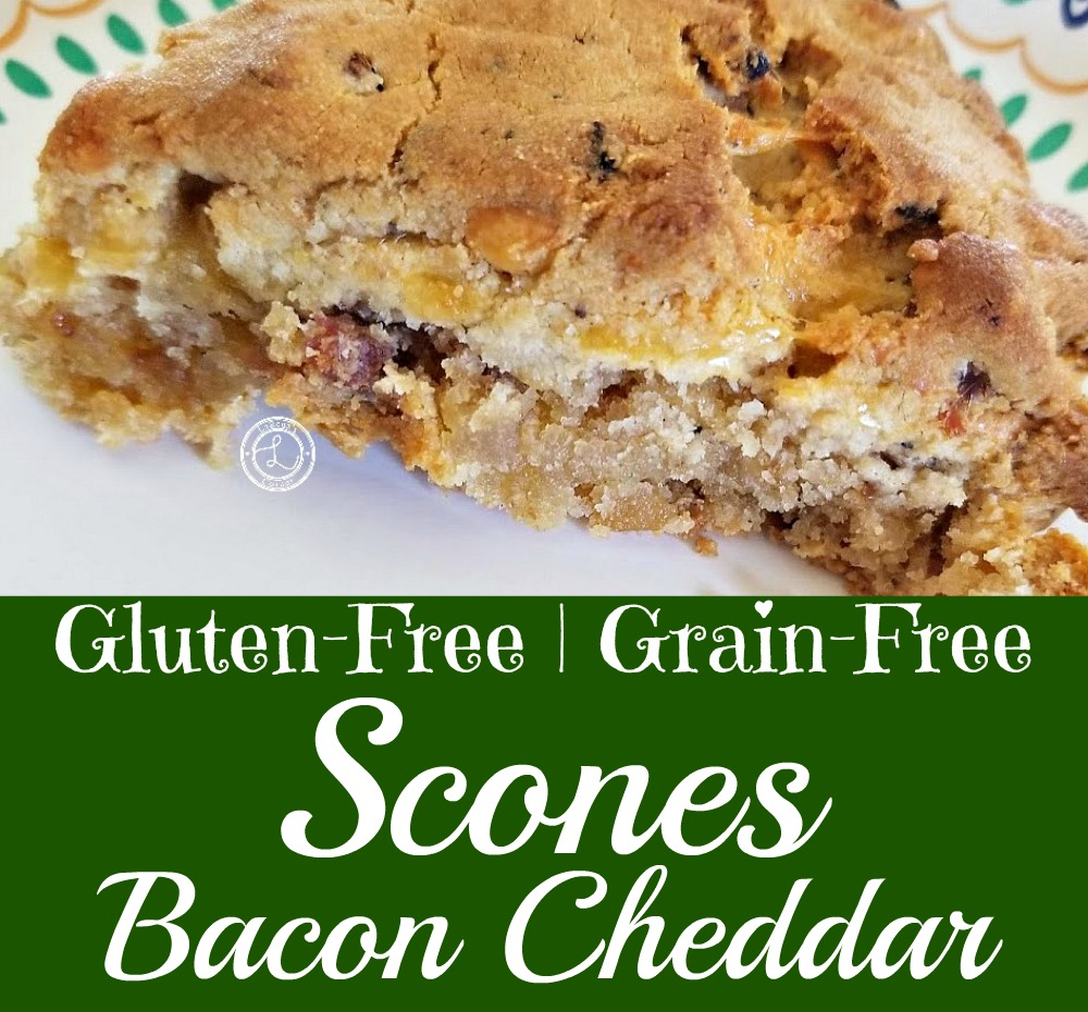Gluten-Free Bacon Cheddar Scone on a plate