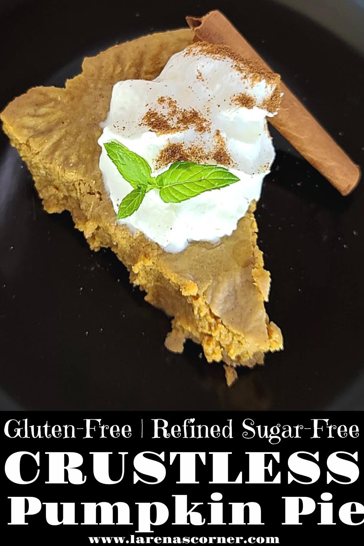 Gluten-Free Crustless Pumpkin Pie