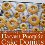 Gluten-Free Harvest Pumpkin Cake Donuts on a cooling tray
