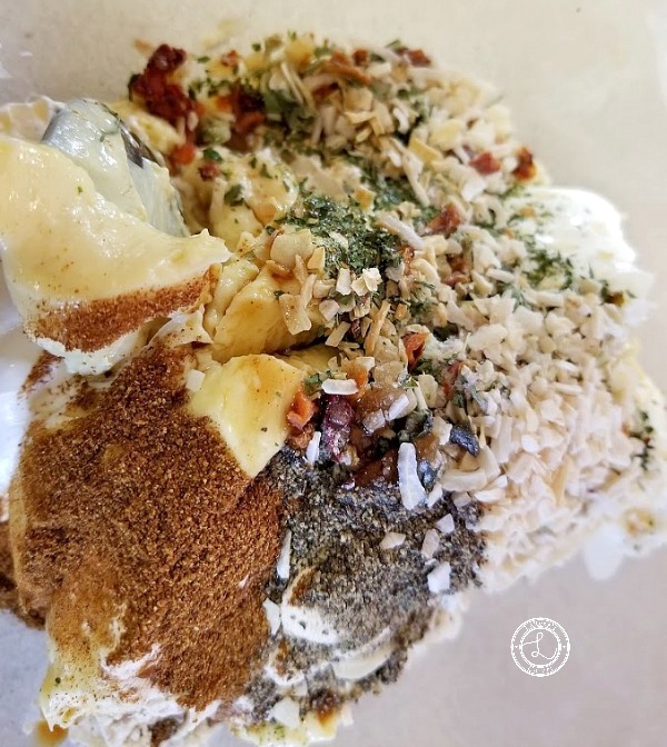 Combining Spices with Spinach Dip