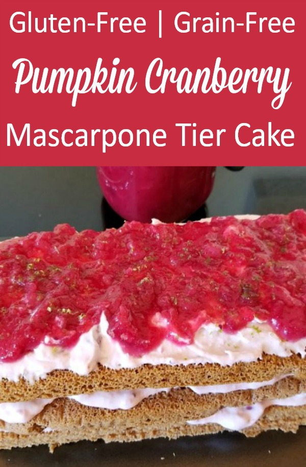 Gluten-Free | Grain-Free Pumpkin Cranberry Mascarpone Tier Cake Recipe