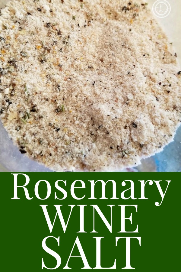 Rosemary Wine Salt in a jar