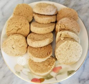 Gluten-Free Lime Meltaway Cookies on plate