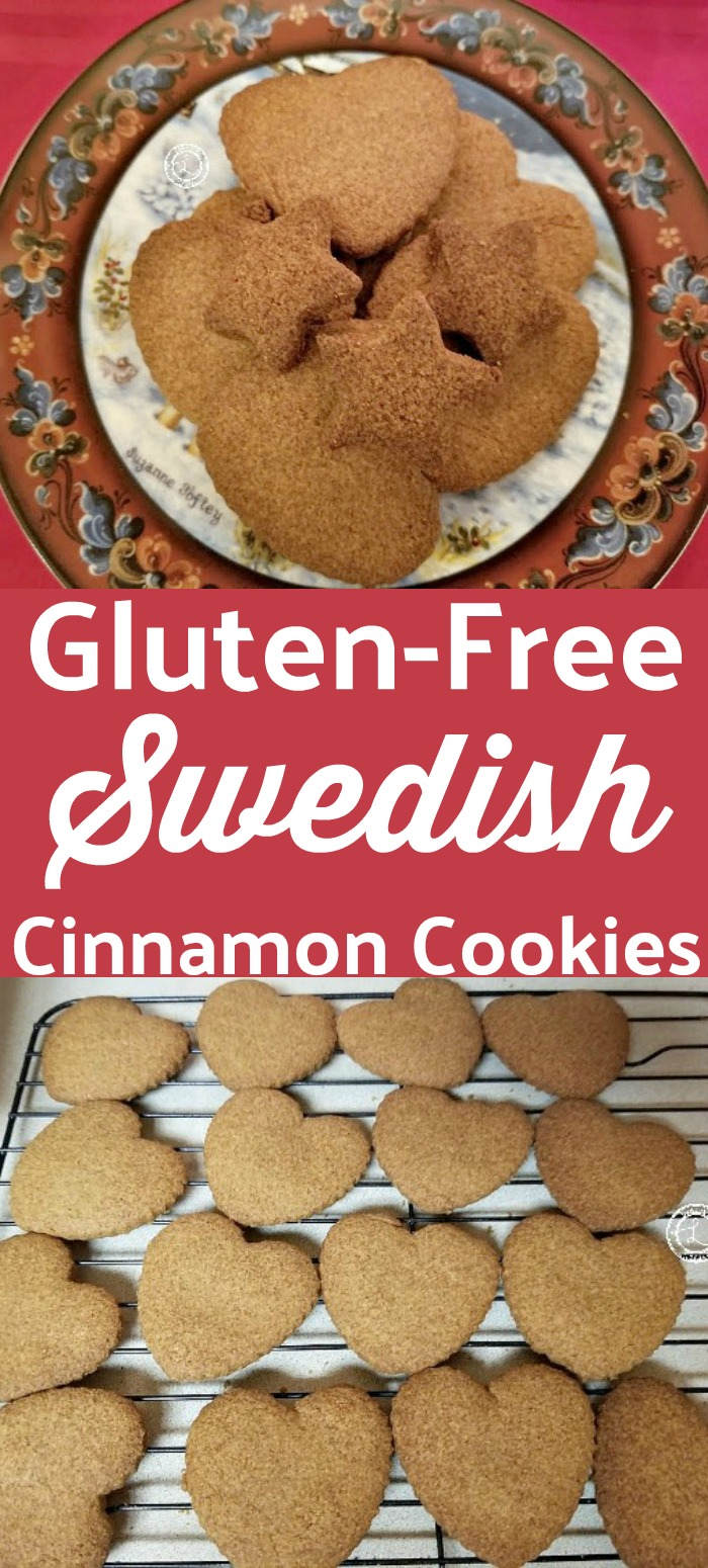 Gluten-Free Swedish Cinnamon Cookies Recipe on a plate and cooling