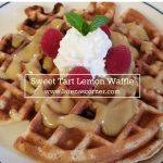 Lemon Waffles with a Lemon Curd Syrup