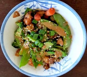 Serving Chicken Stir-Fry and Sauce