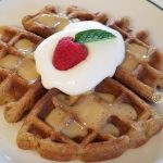 Grapefruit Poppy Seed Waffles gluten-free, grain-free, dairy-free. A wispy flavor of grapefruit which is tart, sweet, made with cassava and almond flours.