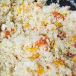 Cooking the cauliflower rice