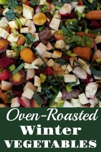Roasted Winter Vegetables with leeks and green onions