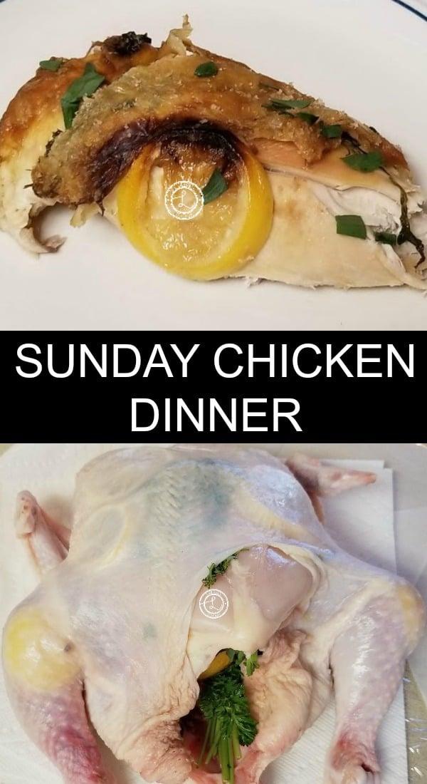 Sunday Chicken Dinner Collage