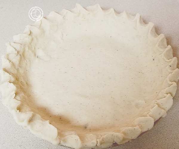 Pie Dough Crimped in a Pie Pan