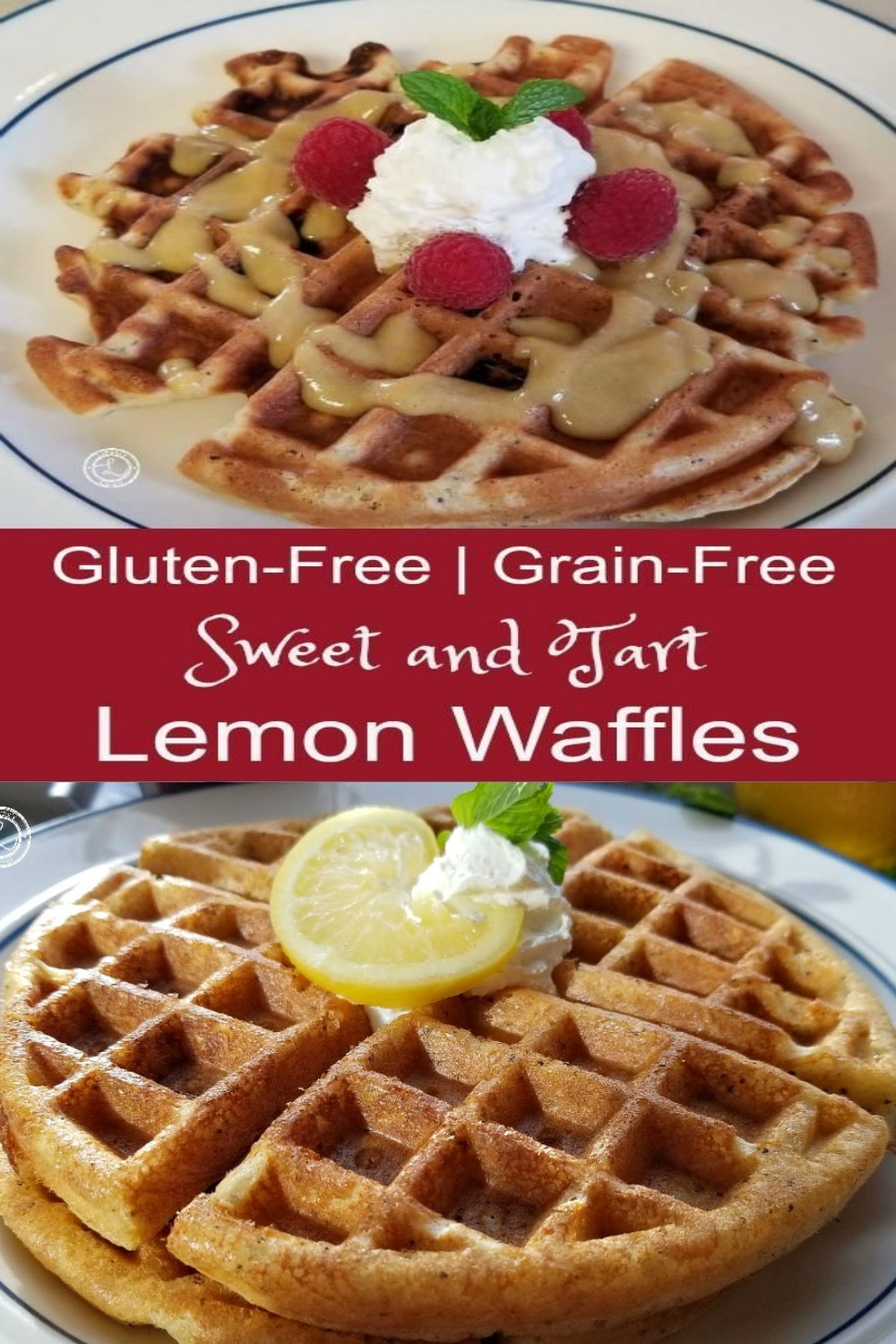 Gluten-Free Sweet and Tart Lemon Waffes