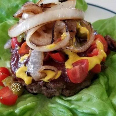 Horseradish Onion Buffalo Burgers