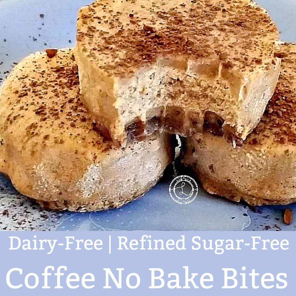 Dairy-Free Coffee No Bake Bites on a plate