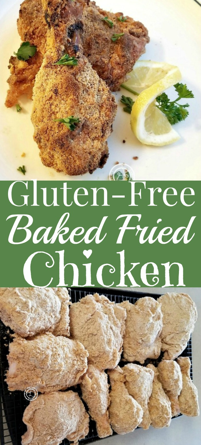 Baked Fried Chicken and dipped but not baked chicken on a tray