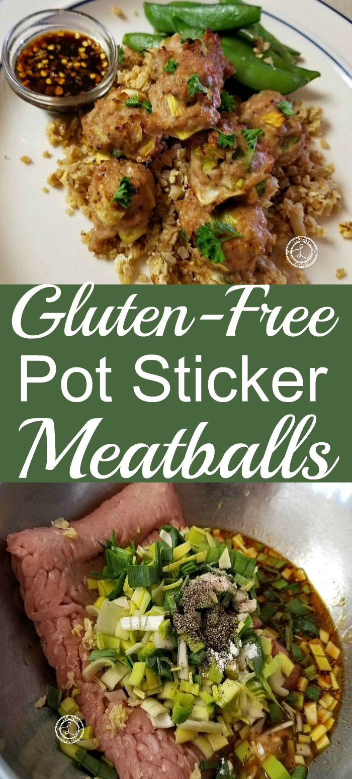 Gluten-Free Pot Sticker Meatballs and before combining ingredients.