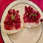 Frosted Sugar cookies, with cranberry sauce and Pomegranate
