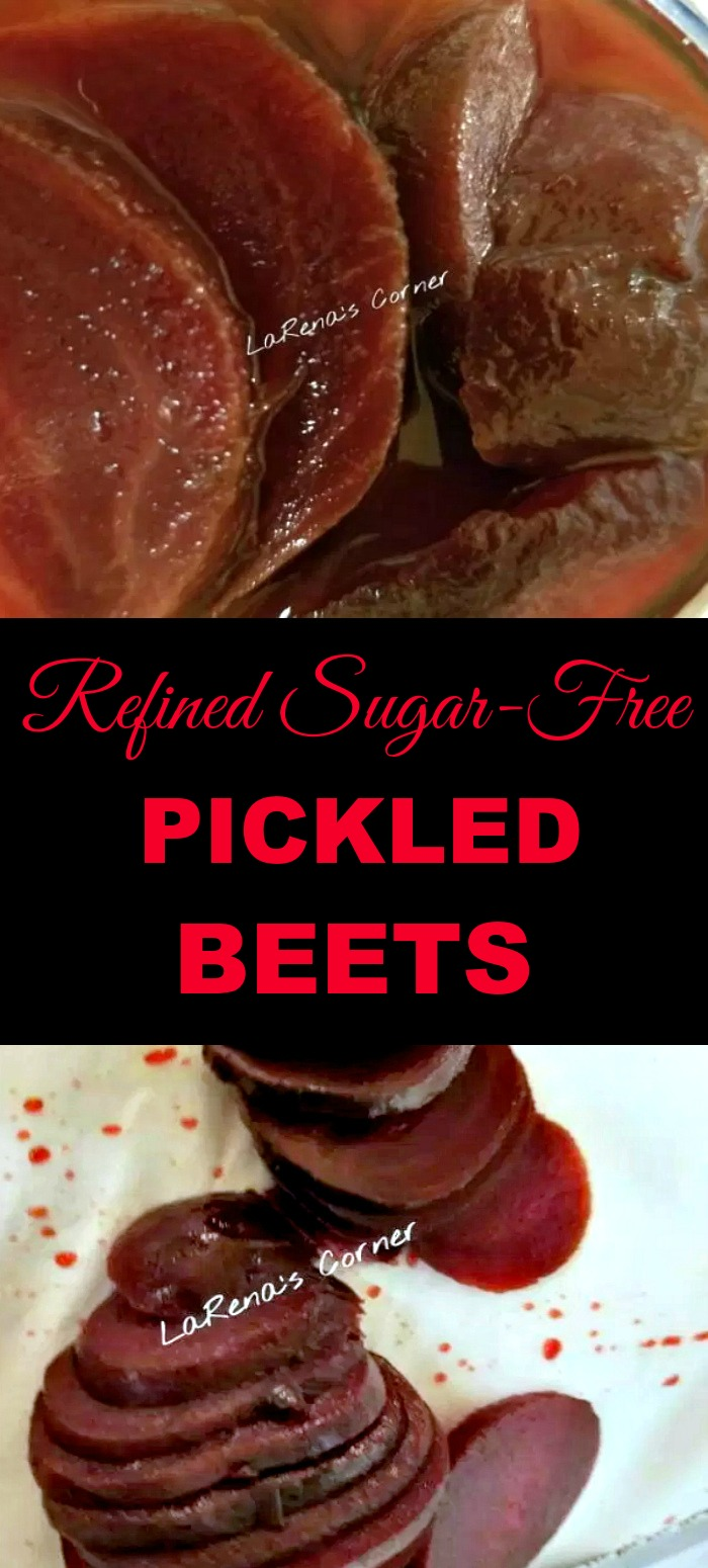 Collage: Top: Pickled Beets. Bottom: Sliced Beets.