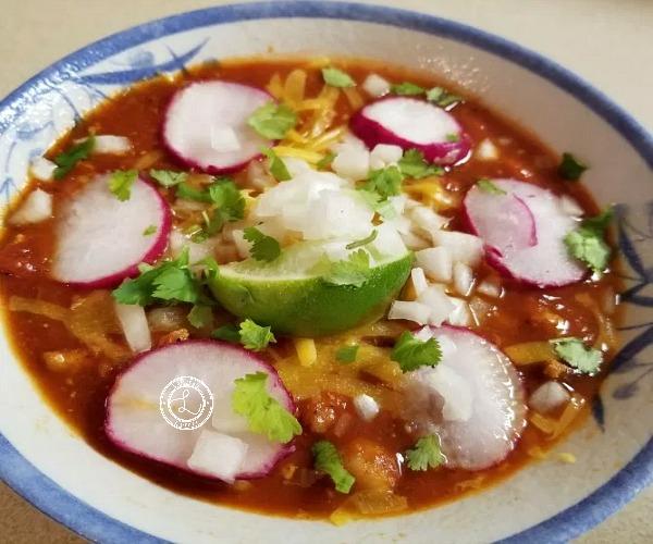 A bowl of Smokey Ground Turkey Chili