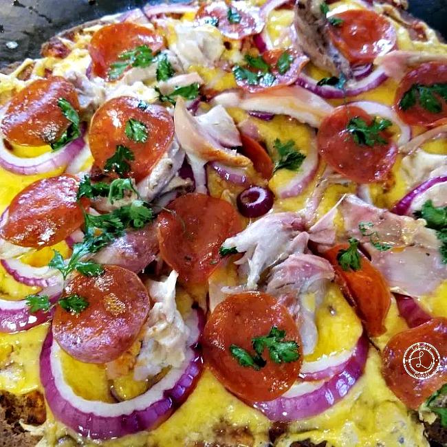 Chicken Pepperoni Pizza