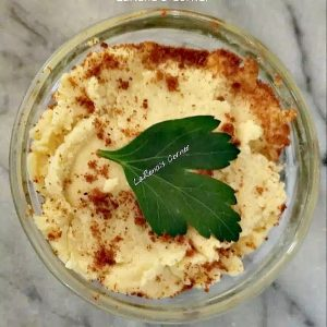 Wine Cheese Spread with smoked paprika and parsley to decorate