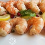 Scandinavian Lemon Dill Shrimp on a platter