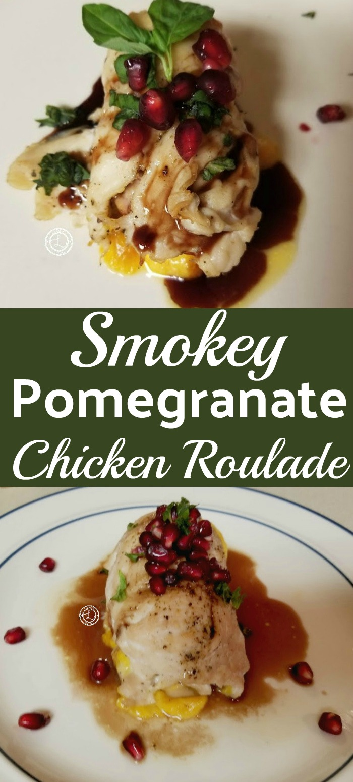 Smokey Pomegranate Chicken Roulade Recipe