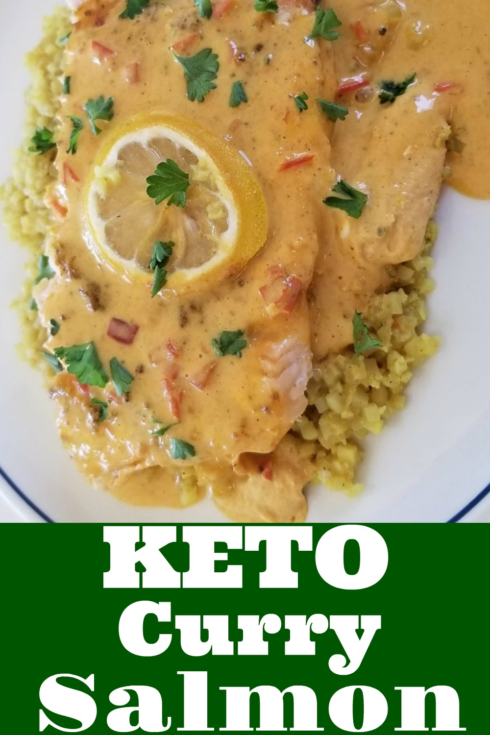 Keto Curry Salmon with Salmon Curry Sauce