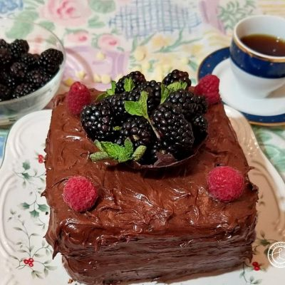 Gluten-Free Chocolate Blackberry Cake