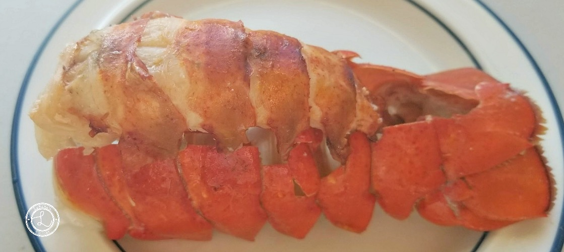 Lobster Tail on a plate