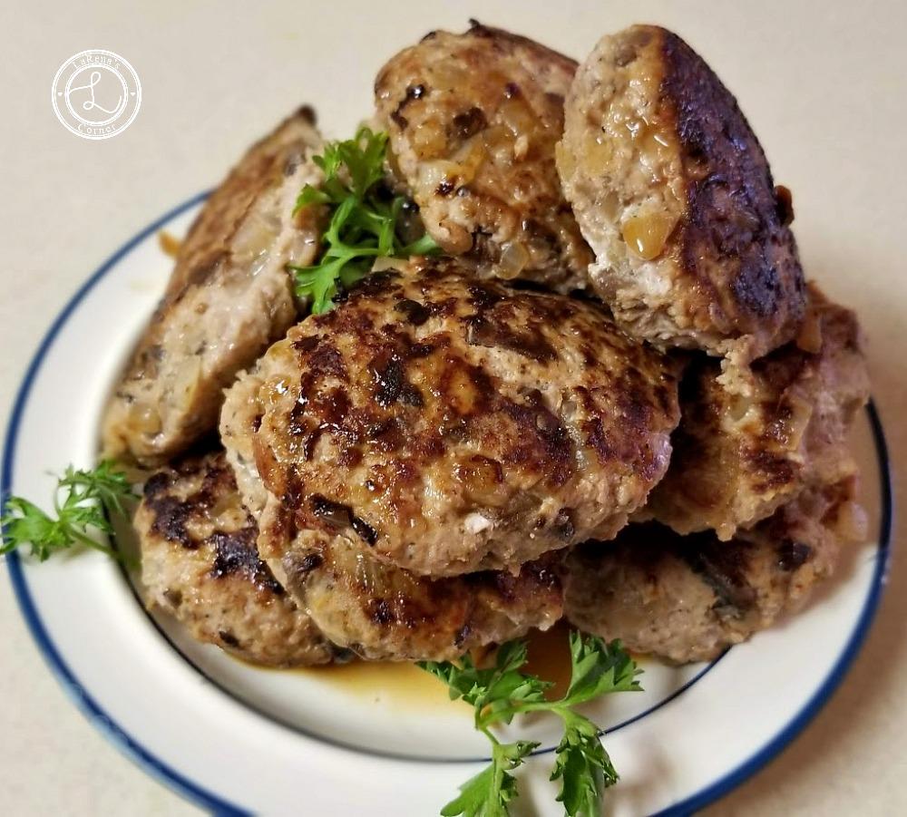 Salisbuery Steak Patties on a plate