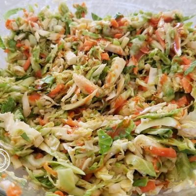 Tex-Mex Brussel Sprout Slaw