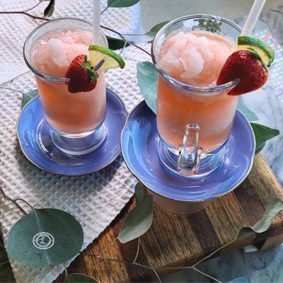 Homemade Strawberry Rhubarb Slush