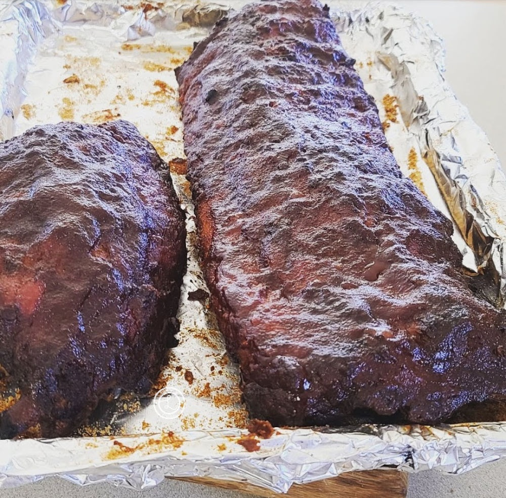 Ribs waiting to be cut
