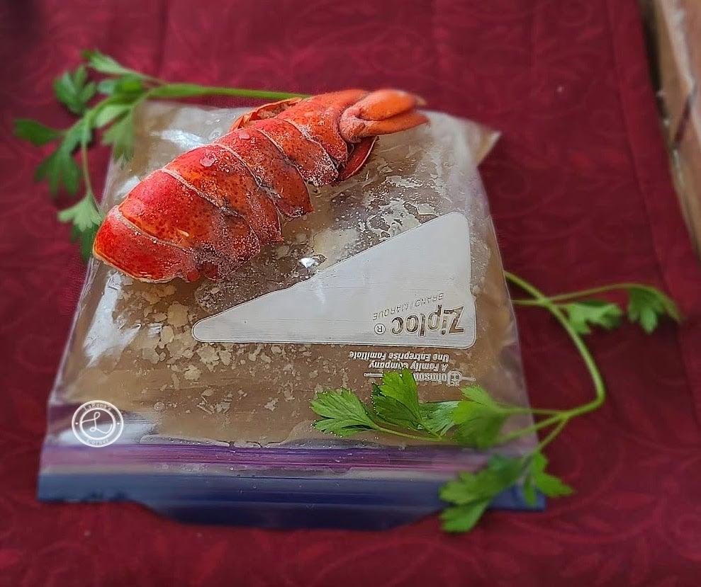 Add stock to freezer bags