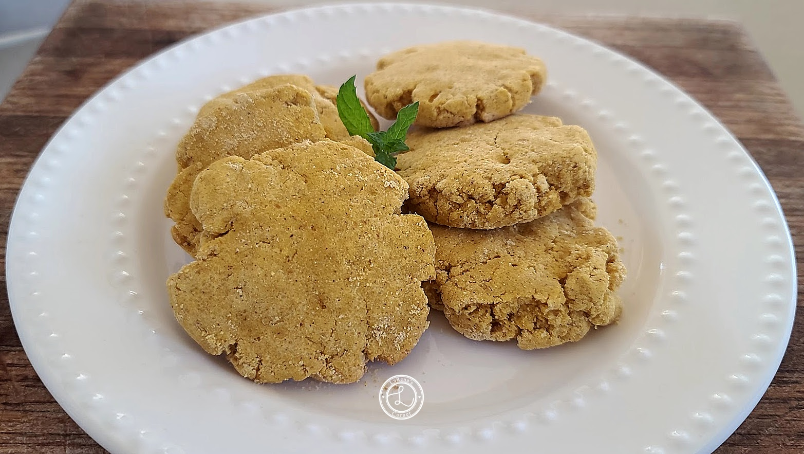 Gluten-Free Pumpkin Cookies on a white plate