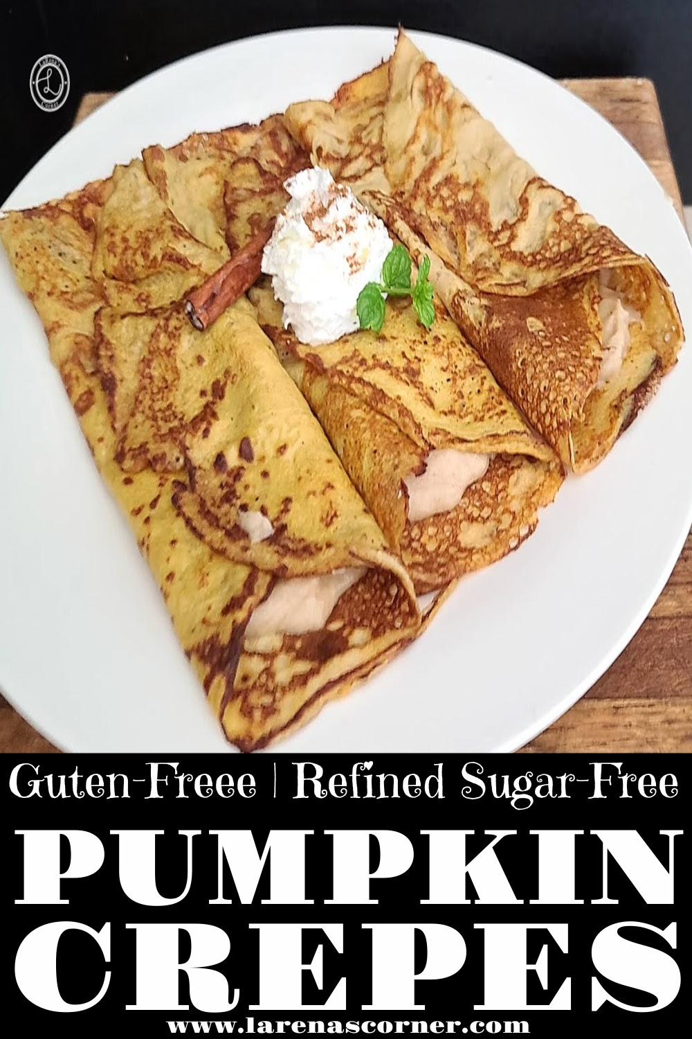 Gluten-Free Pumpkin Crepes on a plate