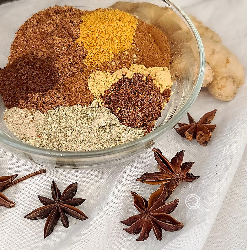 Homemade Speculaas Spice Blend in a bowl